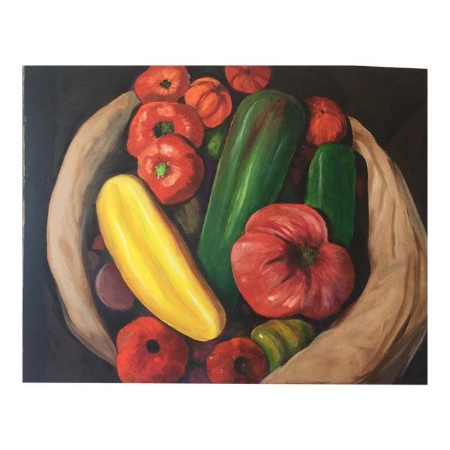 "Original Painting - ""Farmers Market Vegetables"" For Sale"