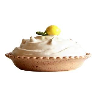 Vintage Trompe l'Oeil Lemon Meringue Pie Lidded Pie Plate
