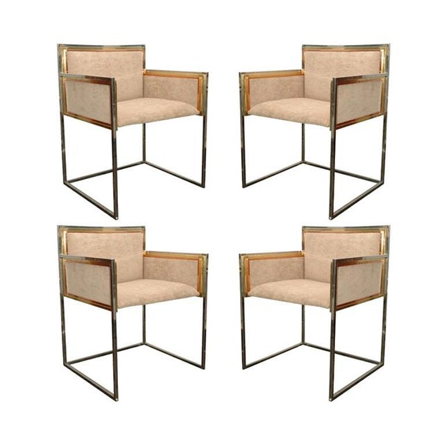 Set of Four Armchairs by Alain Delon for Maison Jansen For Sale - Image 12 of 12