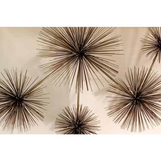Curtis Jere 1970s Mid-Century Modern Curtis Jere Signed Brass Pom Wall Sculpture For Sale - Image 4 of 7
