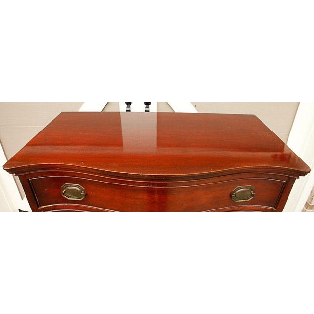 ce9aa09dbd208 Morganton Vintage Hepplewhite Style Mahogany Chest of Drawers For Sale In  Atlanta - Image 6 of