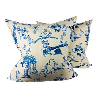 Lee Jofa Cotton Pillows – a Pair For Sale