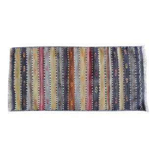 Vintage Unique Striped Anatolian Kilim Runner 1′4″ × 2′9″ For Sale