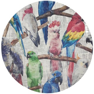 "Nicolette Mayer Cockatoo Fantasia 16"" Round Pebble Placemats, Set of 4 For Sale"