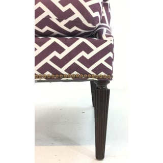 Modern Hickory Chair Purple and White Gregory Lounge Chair Preview