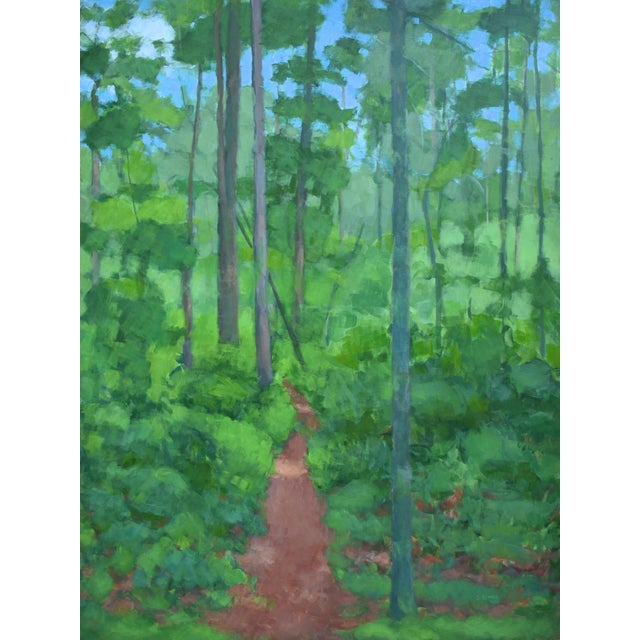 "Large Painting ""At the Edge of the Woods"" by Stephen Remick For Sale - Image 13 of 13"