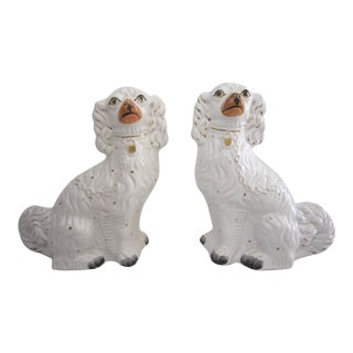 Large Antique Staffordshire Dogs - a Pair For Sale