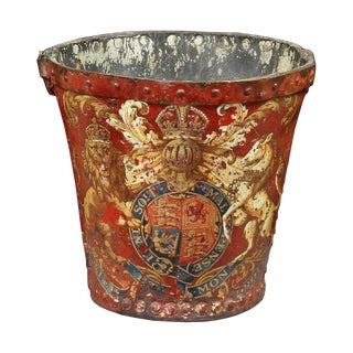 Georgian Red Leather Fire Bucket For Sale