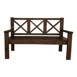Solid Wood Farmhouse Bench
