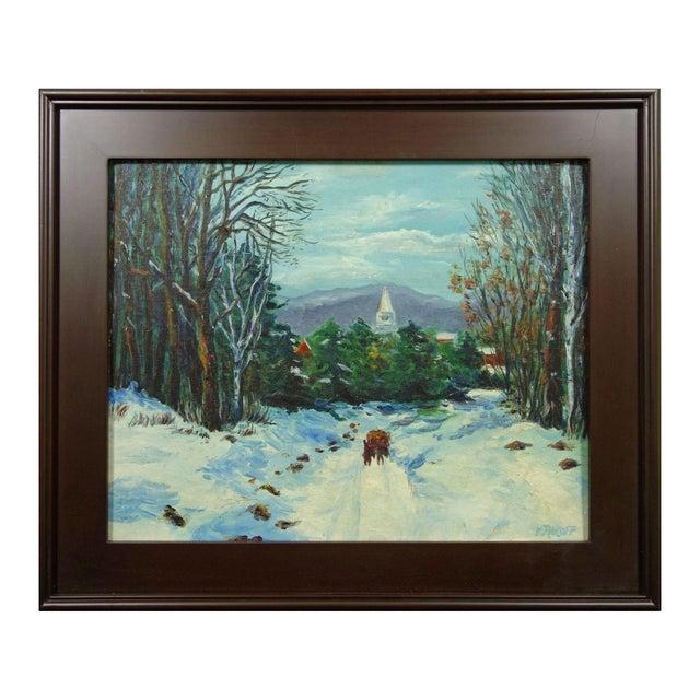 Impressionist Winter Landscape by Viki Rakoff - Image 1 of 7