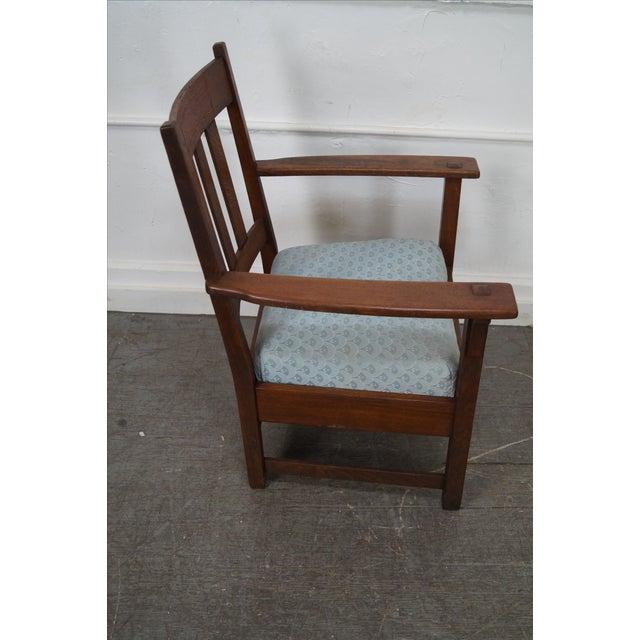 Arts & Crafts Limbert Antique Mission Oak Arm Chair For Sale - Image 3 of 10 - Limbert Antique Mission Oak Arm Chair Chairish