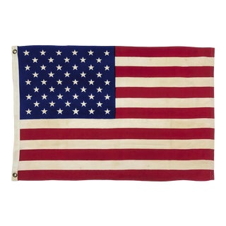 Small Vintage Cotton American Flag For Sale