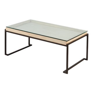 Sarreid Days Creek Glass Top Coffee Table For Sale