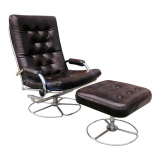 Mid Century Reclining Lounge Chair For Sale