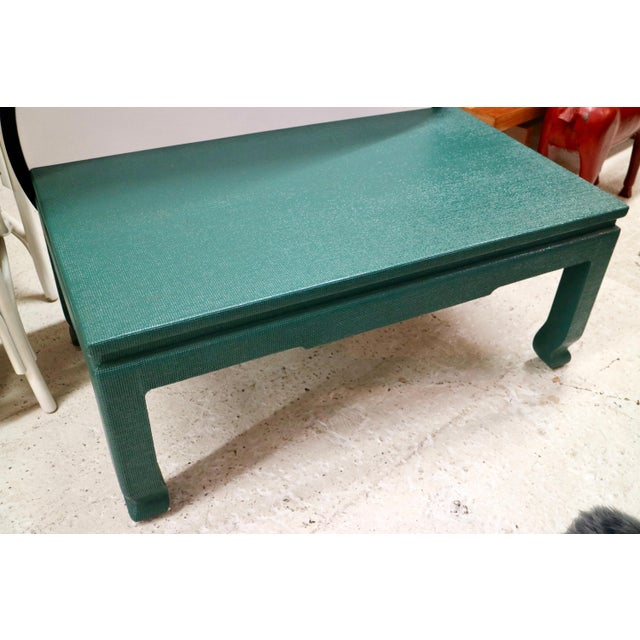 Linen Wrapped Asian Style Coffee Table - Image 5 of 6