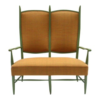 Rare Sculptural Settee For Sale