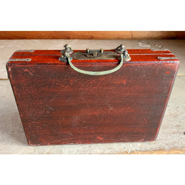 Black Old Asian Tea Caddy Case For Sale - Image 8 of 11