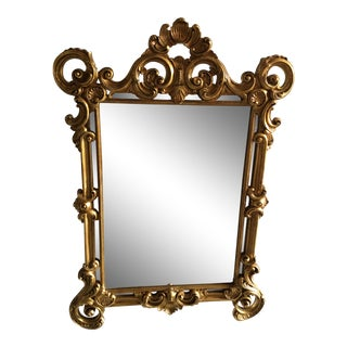 Italian Gold Gilt Wall Mirror For Sale