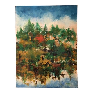 Abstract Landscape Oil Painting For Sale