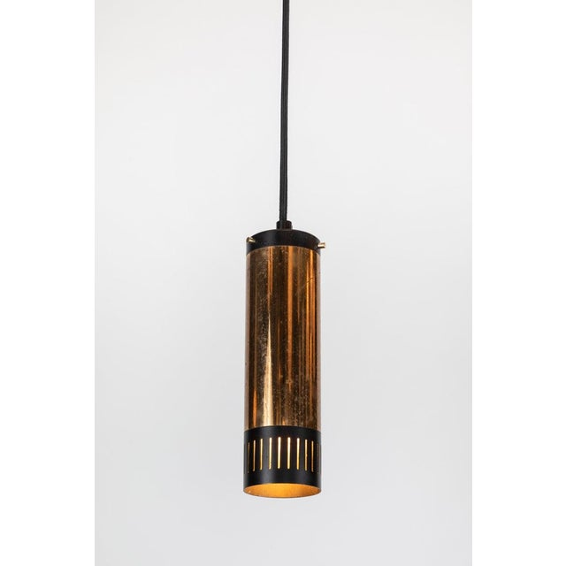 1950s 1950s Stilnovo Cylindrical Pendant With Yellow Label For Sale - Image 5 of 11