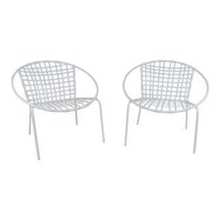 Mid-Century Modern Laced Hoop Chairs - a Pair