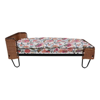 A Metal and Rattan Bed, Denmark 50'