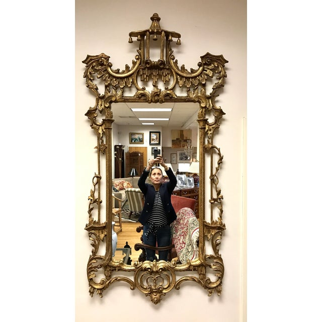 Carved Giltwood Chinoiserie Pagoda Mirror - Image 6 of 6