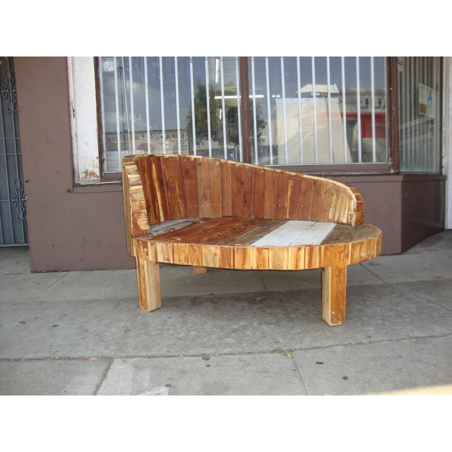 Wood Hand-Made Lounge Chair For Sale - Image 7 of 13