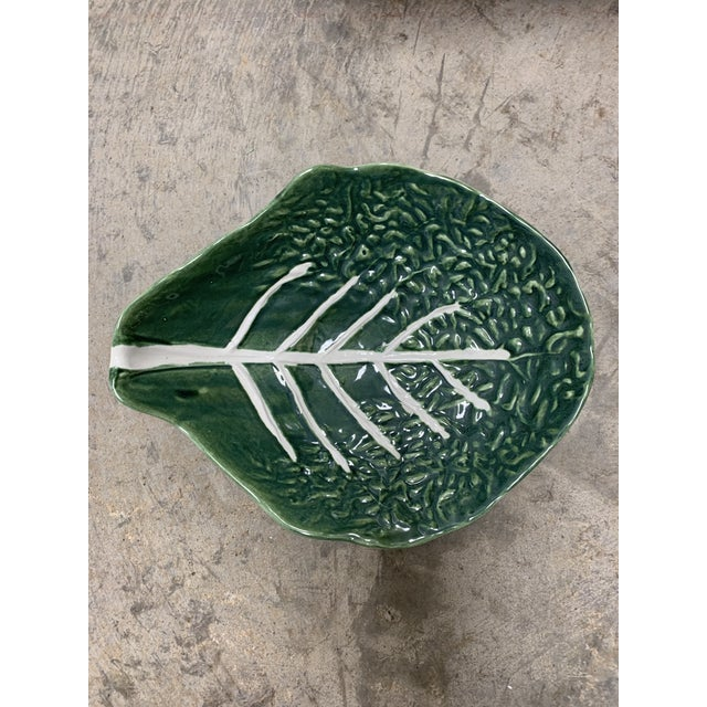 Mid 20th Century Majolica Cabbage Platter For Sale - Image 5 of 9