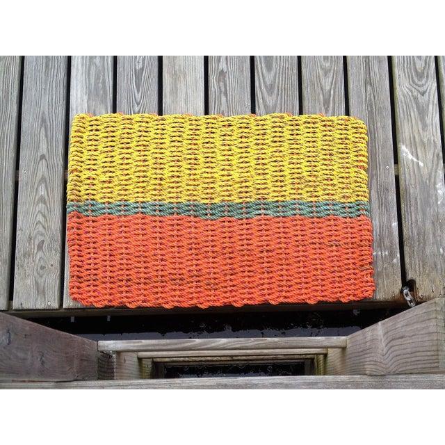 """Recycled Lobster Rope Doormat: """"Peaks"""" - Image 4 of 4"""