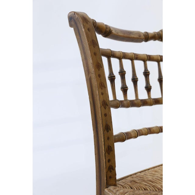 Pair of Faux Bamboo Side Chairs For Sale In Houston - Image 6 of 11