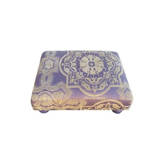Lavender Velvet Footstool For Sale