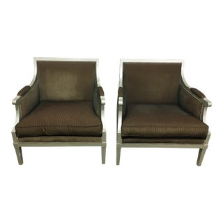 1990s Vintage Roche Bobois Lounge Chairs - a Pair For Sale