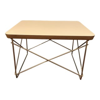 Modern Eames Wire Base Low Table For Sale