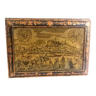 Large Antique Schmidt Nuremburg Medieval Scenes Biscuit Tin