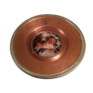 1920s Vintage Grand Silver Co. Wear-Brite Taurus Zodiac Motif Copper Plate For Sale