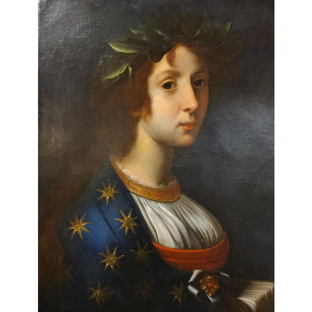 Traditional La Poesia - 18th Century Oil Painting For Sale - Image 3 of 8