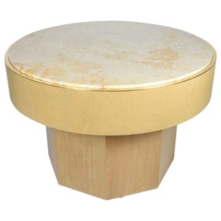 Mid-Century Modern Marble Top Center Hall Table For Sale
