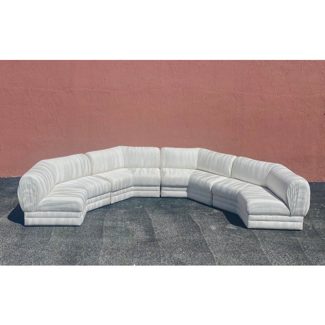 Off-white Midcentury Milo Baughman for Thayer Coggin Sectional Sofa For Sale - Image 8 of 12