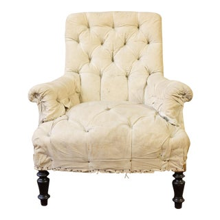 19th C. French Tufted Armchair