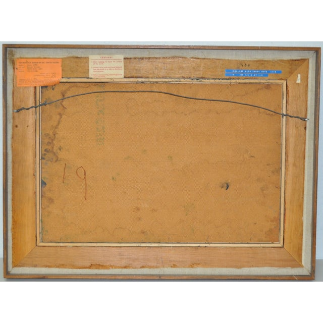 James Grant (1924–1997) Mixed Media Abstract 1963 - Image 5 of 6
