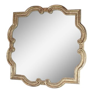 Large Formations Antiqued Quatrefoil Mirror