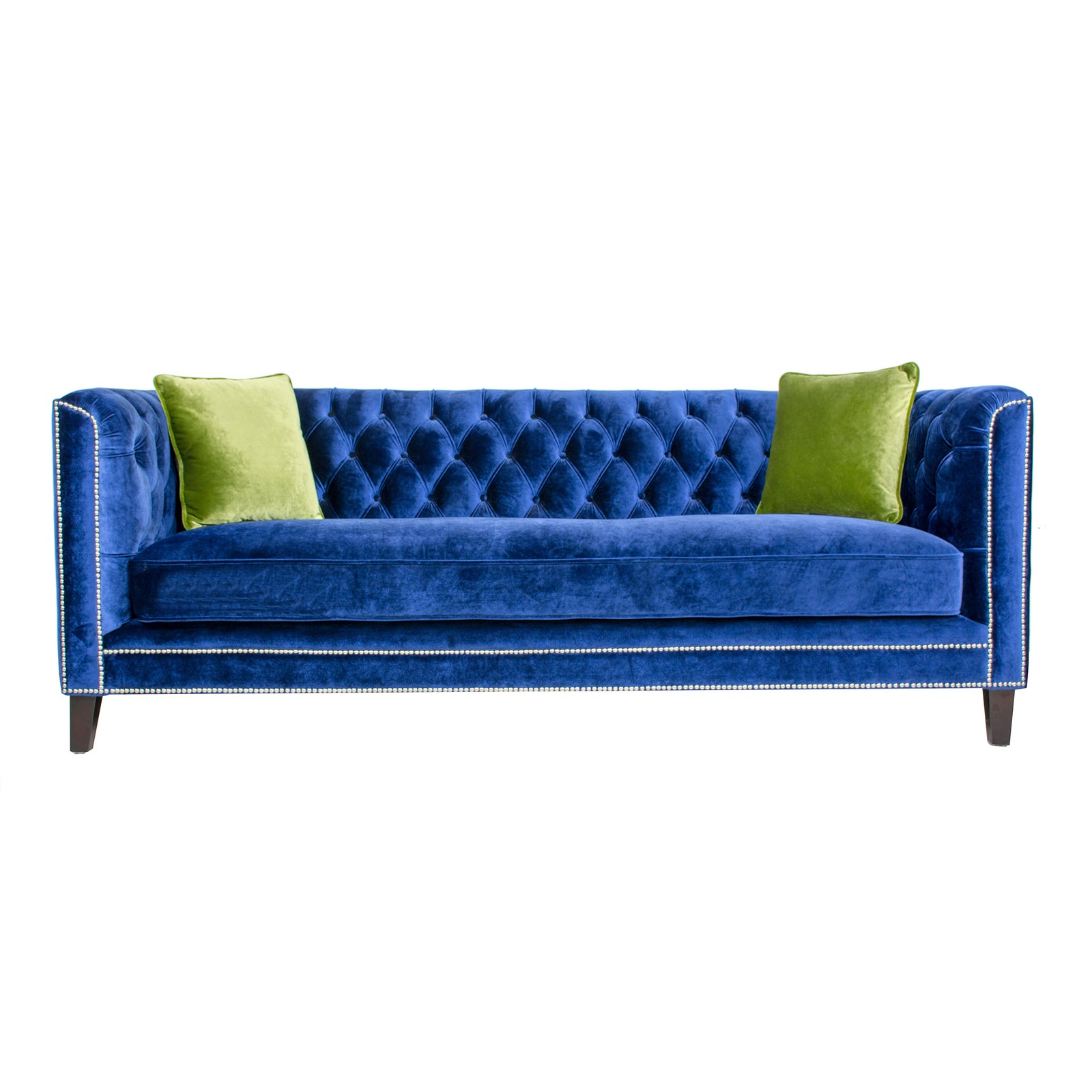 Pasargad Victoria Collecion Royal Blue Velvet Sofa Chairish
