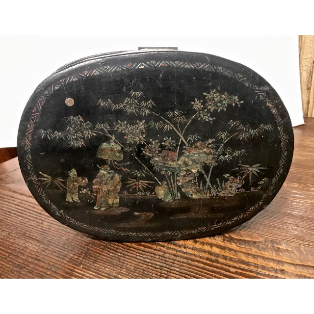 Chinese Coromandel Lacquer Hot Box, 19th Century For Sale - Image 9 of 10