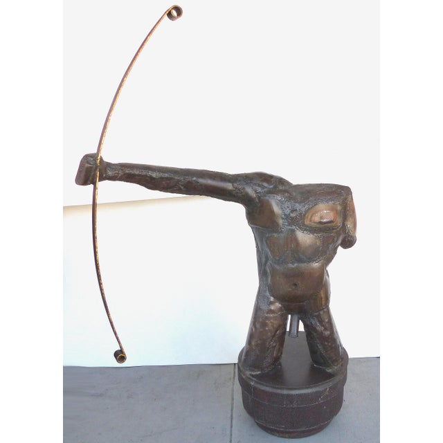 Monumental Sculpture of an Archer by American Artist Dewey Smith For Sale - Image 9 of 9
