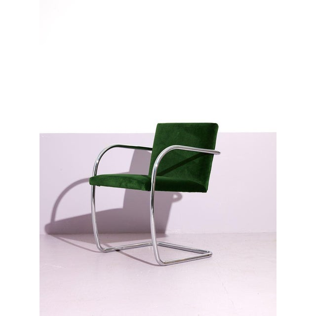 Metal Ludwig Mies Van Der Rohe Tube Chrome Cantilever Side Chair For Sale - Image 7 of 7