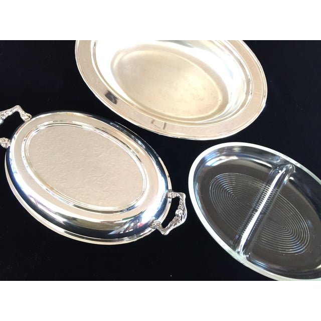 Vintage Silver Plated Divided Serving Dish - 3 Pieces - Image 4 of 5