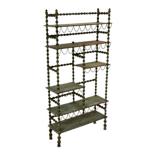 Ornate Spool Shelving Unit