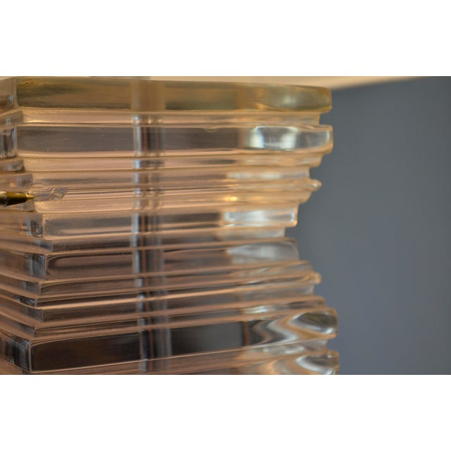 Vintage Lucite Stacked Lamps - A Pair For Sale - Image 4 of 5