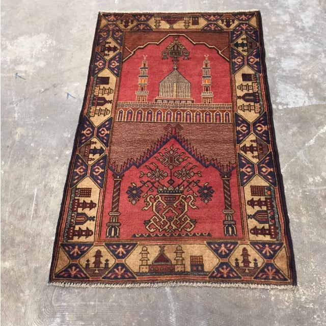 "Vintage Persian Rug - 2'10"" x 4'8"" - Image 2 of 8"